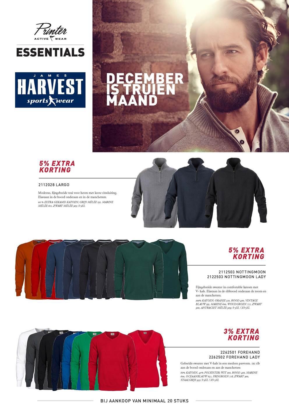 Harvest Largo Heren trui met korte rits 2112028